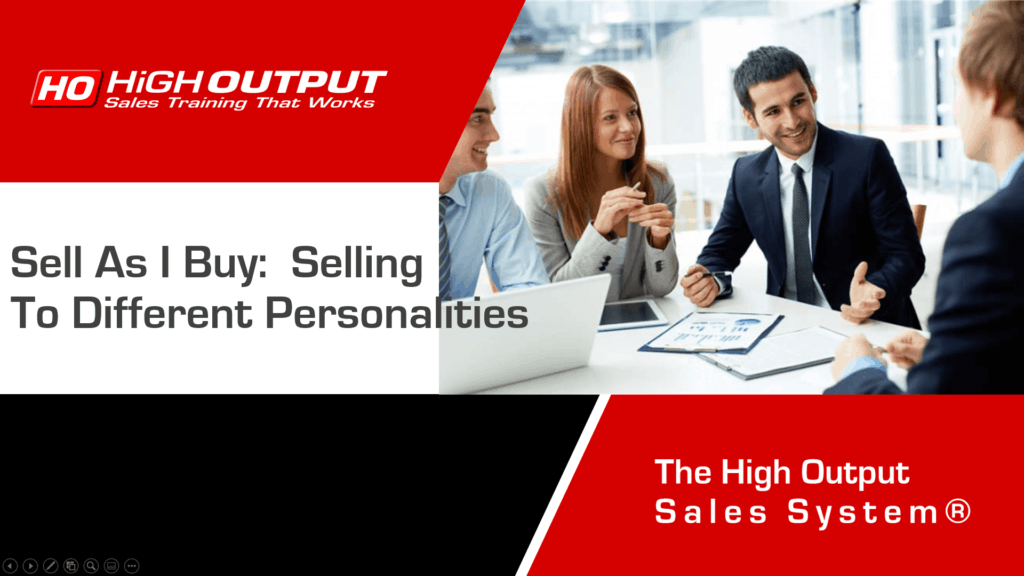 Selling To Differnet Personalitites